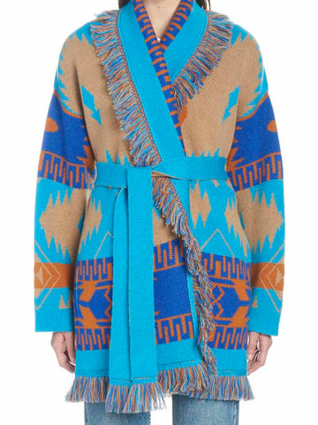 Alanui Patterned Belted Cardigan