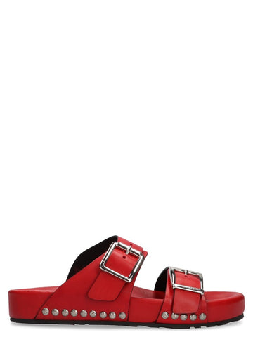 Alexander McQueen Buckled Slides