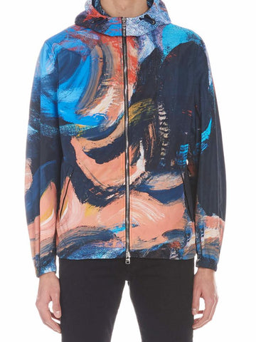 Alexander McQueen Brush Paint Zipped Sweatshirt