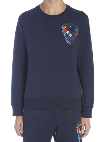 Alexander McQueen Embroidered Skull Sweater