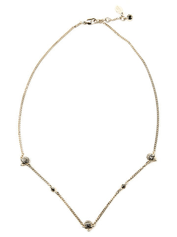Alexander McQueen Triple Charm Necklace