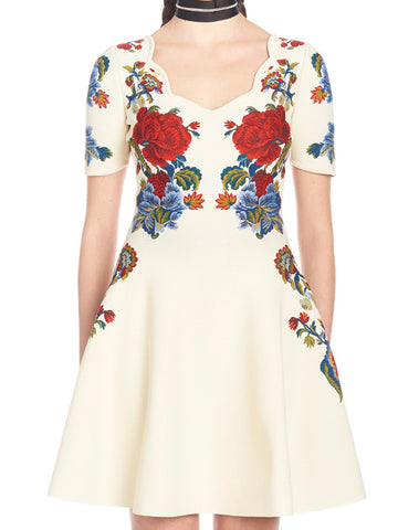 Alexander McQueen Flower Mini Dress