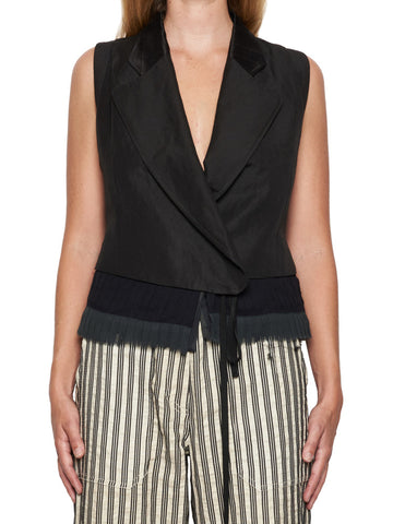 Ann Demeulemeester Pleated Inserts Vest