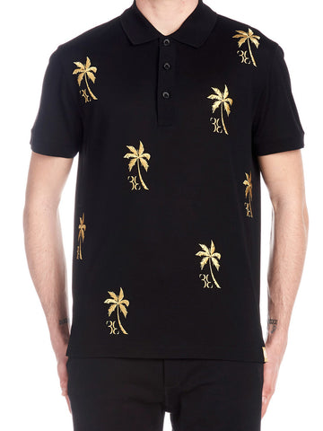 Billionare Palm Embroidered Polo Shirt