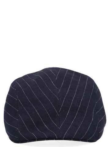 Brunello Cucinelli Pinstriped Hat
