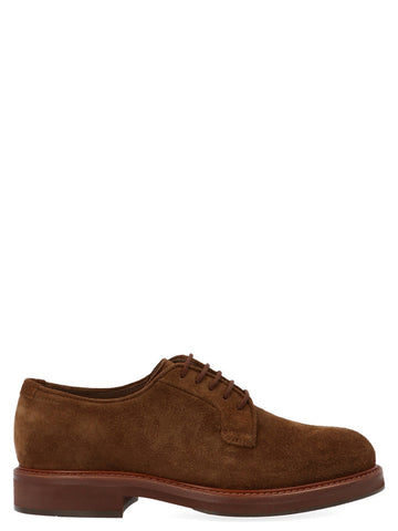 Brunello Cucinelli Suede Lace-Up Shoes
