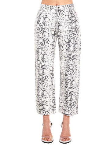 Alexander Wang Patterned Cropped Jeans