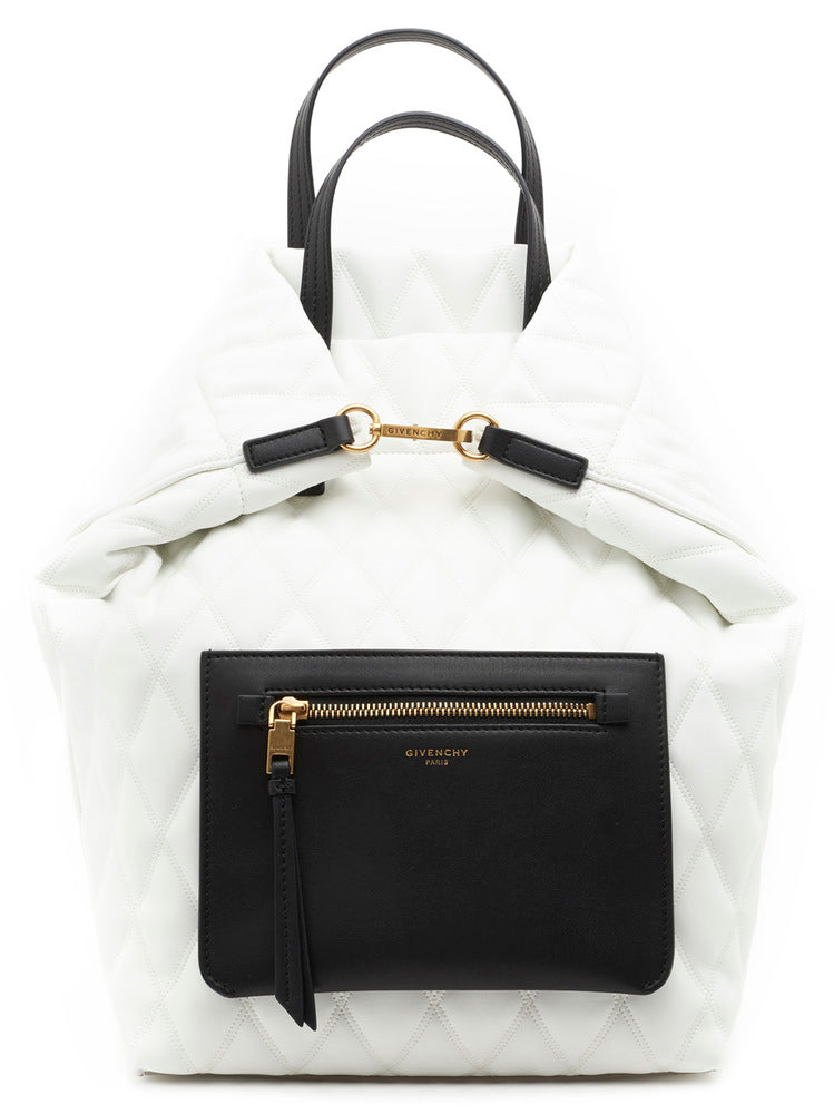 Givenchy Quilted Front Zip Tote Bag