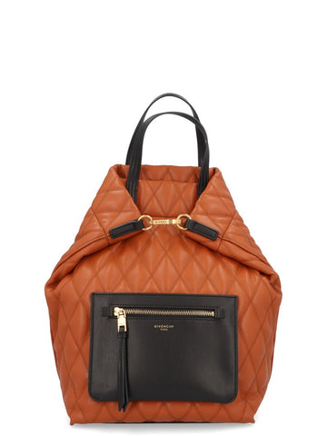 Givenchy Duo Quilted Front Zip Backpack