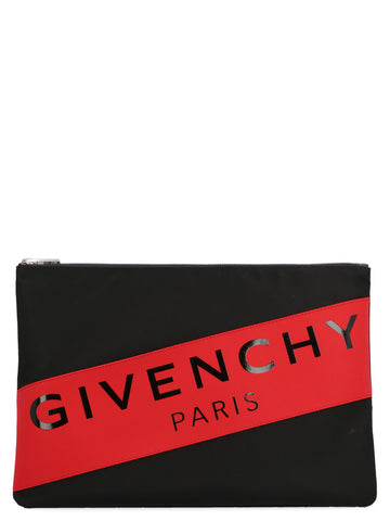Givenchy Logo Zipped Clutch Bag