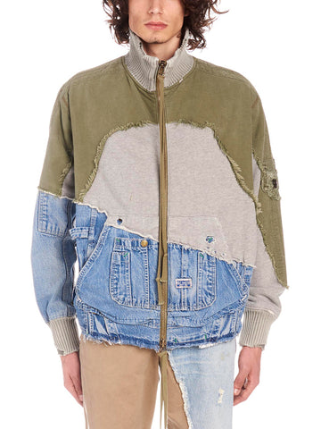 Greg Lauren Patchwork Distressed Jacket