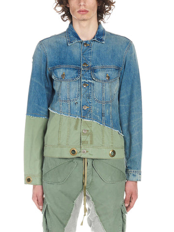 Greg Lauren Patchwork Denim Jacket