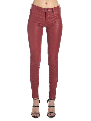 J Brand Fitted Leather Pants