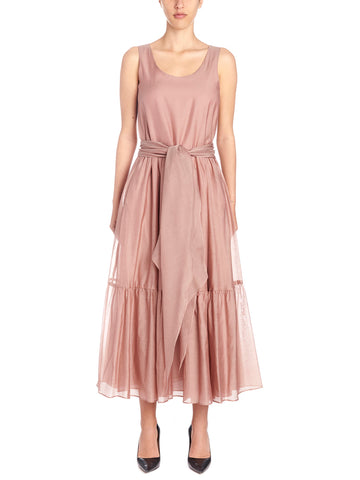 'S Max Mara Manche Belted Ruffle Dress