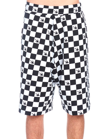 MCQ Alexander McQueen Swallow Chess Shorts