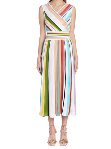 Missoni Colour Block Striped Wrap Dress