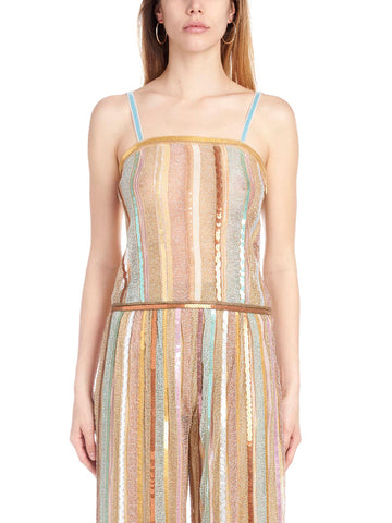 Missoni Embellished Striped Tank Top