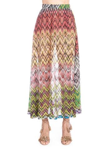 Missoni Patterned Split Skirt