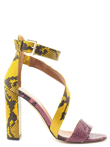 Paris Texas Animalier Print Strapped Sandals