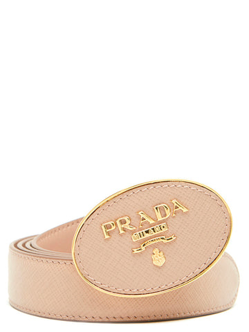 Prada Metal Buckled Logo Belt
