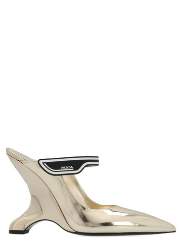 Prada Slip-On Wedge Pumps