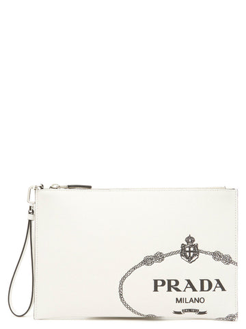 Prada Embossed Logo Classic Toiletry Bag