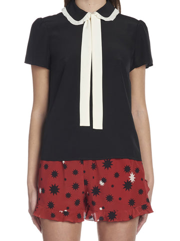 Red Valentino Bow Blouse