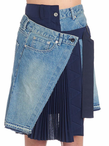 Sacai Asymmetric Denim Skirt