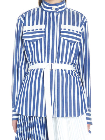 Sacai Striped Belted Shirt