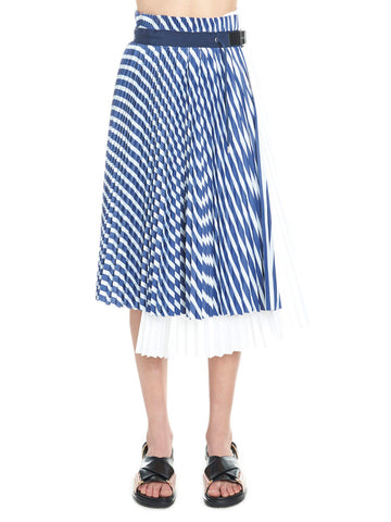 Sacai Striped Pleated Skirt