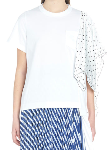 Sacai Polka-Dot Detail T-Shirt