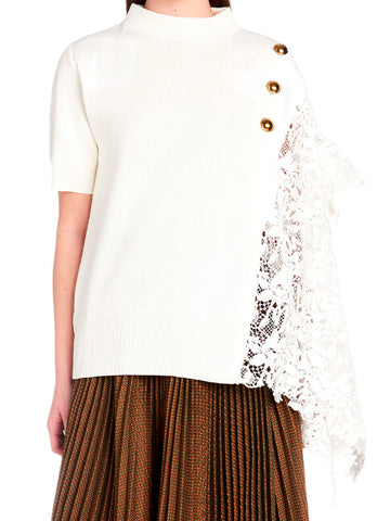 Sacai Lace-Detail Top