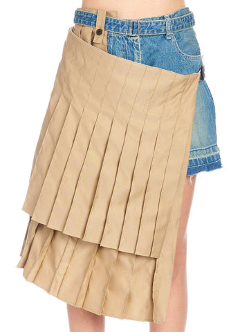 Sacai Pleated Insert Shorts