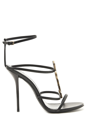Saint Laurent YSL Logo Cassandra Sandals