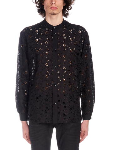 Saint Laurent Star Embroidered Shirt