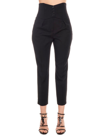 Saint Laurent High Wasted Cropped Pants