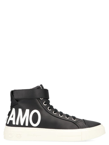Salvatore Ferragamo Ayr2 Logo High-Top Sneakers