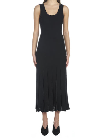 Theory Pleated Slim-Fit Midi Dress