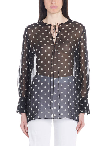 Theory Polka-Dot Sheer Blouse