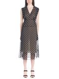 Theory Polka-Dot Midi Dress