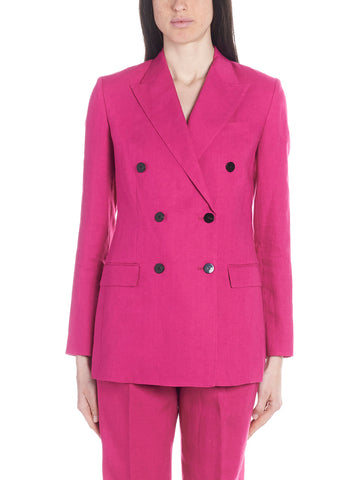 Theory Double Breasted Long Blazer