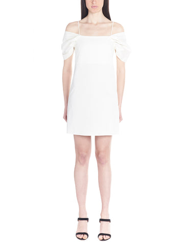 Theory Cold-Shoulder Mini Dress