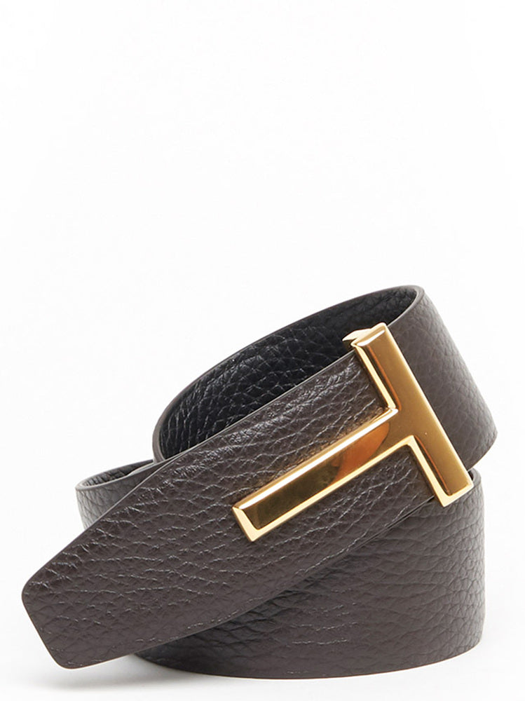 70e528f01 Tom Ford Pebbled T Buckle Reversible Belt – Cettire