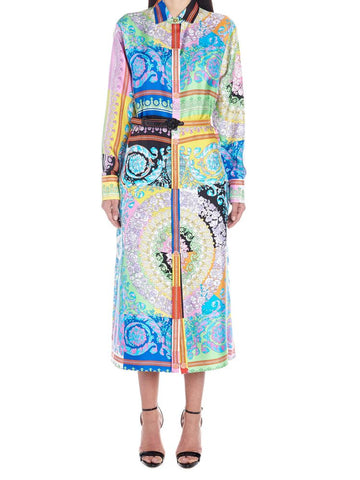 Versace Technicolor Baracco Shirt Dress