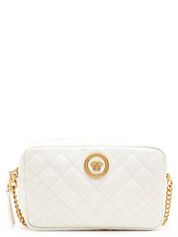 Versace White Quilted Crossbody Bag