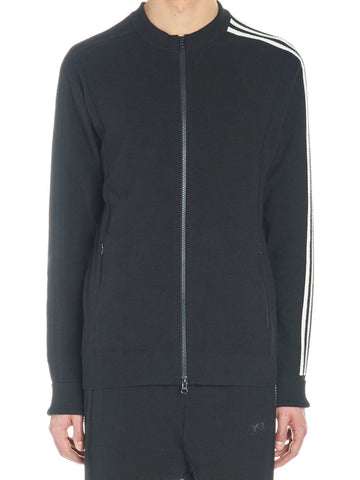 Y-3 Stripe Sleeve Zip-Up Sweater