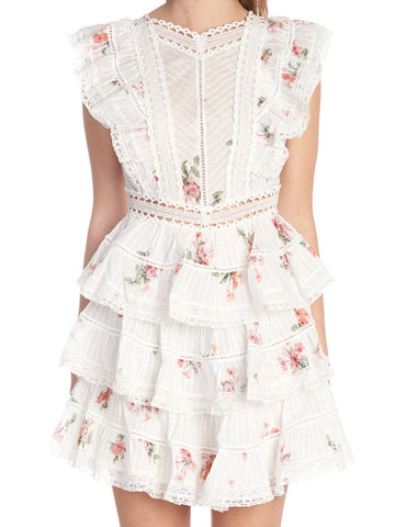 Zimmermann Heathers Pintuck Frill Dress