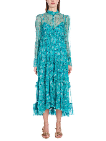 Zimmermann Sheer Floral Printed Dress