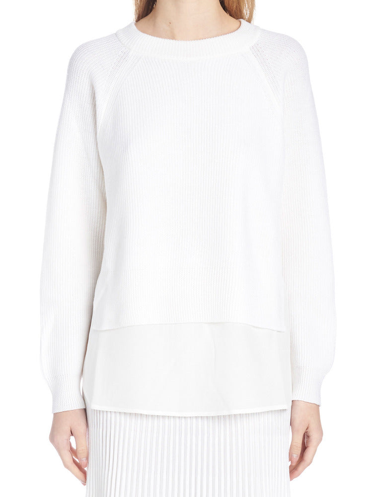 Agnona Sweaters AGNONA RIBBED LAYERED SWEATER