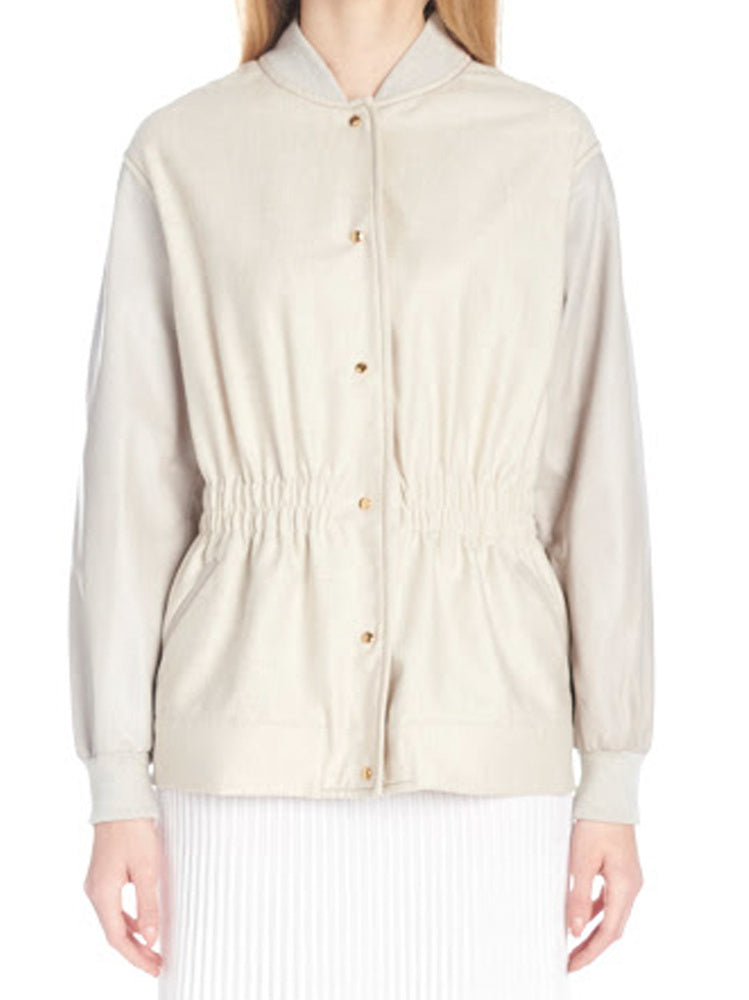 Agnona Jackets AGNONA SMOCKED SAFARI JACKET